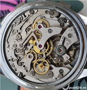 DIONIS ceas cronograf rar, cal elvetian Landeron 248 , 17 rubine - imagine 5