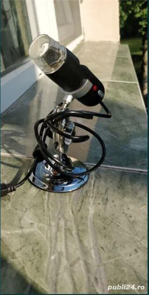 Camera video microscopica Vimicro usb 2.0 uvc pc camera (Proxima) 2MP/ 800x / 8 led - imagine 3