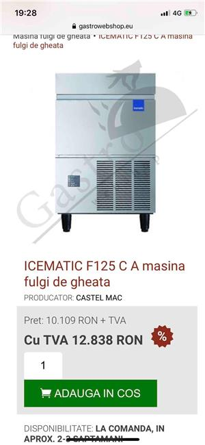 masina gheata Icematic f125  110kg/24 ore - imagine 2