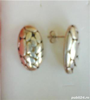 Cercei argint cu surub - imagine 2