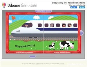 Baby's Very First Noisy Book Trains - Usborne - imagine 2