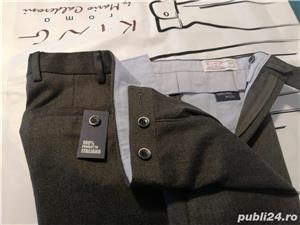 Pantaloni barbatesti din lana /bbc import Italia - imagine 3