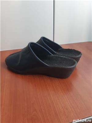 Papuci piele ,marime 39/40 - imagine 3