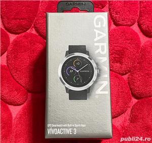Garmin Vivoactive 3 Negru GPS Smartwatch Android IOS - imagine 1