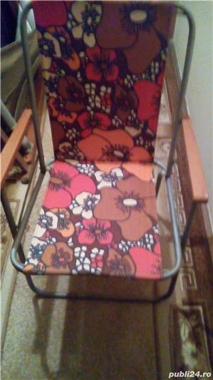 Sezlong si scaun pentru iesiri la iarba verde - imagine 2