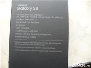 Samsung Galaxy S8 Black Edition ca NOU in cutie Fullbox Liber 64 GB  - imagine 1