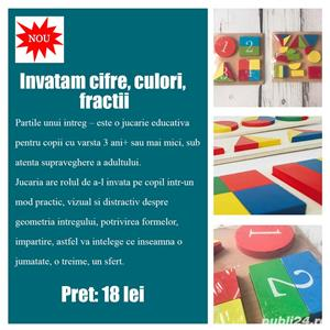 Jucarii educative Montessori din lemn - imagine 3