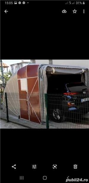 Garaje cu prelat a cauciucata si garaje pliante pe structura de metal  - imagine 5