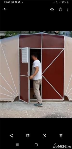 Garaje cu prelat a cauciucata si garaje pliante pe structura de metal  - imagine 6
