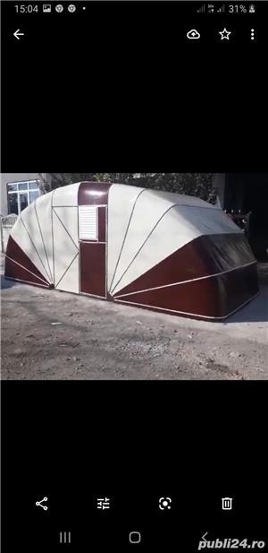 Garaje cu prelat a cauciucata si garaje pliante pe structura de metal  - imagine 3