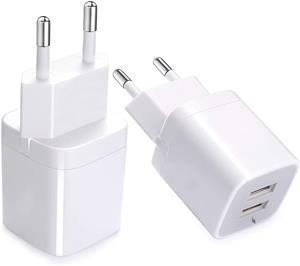 Incarcator telefon 5A MRG M-TC04, Fast charging, 2 porturi USB, Alb C367 - imagine 2