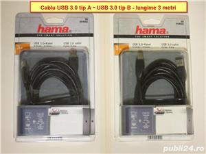 Cablu USB 3.0 Tip A - USB 3.0 Tip B dublu ecranat Hama - 3m lungime  - imagine 1
