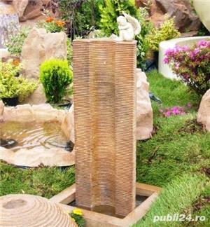 Fântână arteziană Corado, cu bazin și pompă de recirculare apa - imagine 2