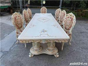 Masă cu scaune stil barocco veneziano - imagine 3