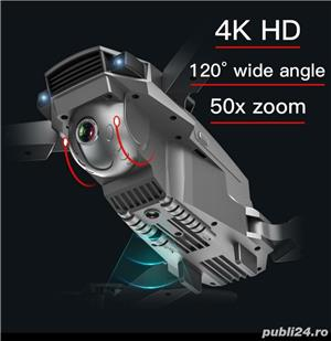 Drona GPS camera electrica 4K, zbor 18min, distanta 400-500M, Foto 14 megapixeli return, - imagine 2