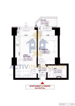 Apartament, 2 camere, 44 mp, Copou, - 50.500 Euro - imagine 11