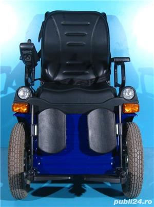 Carucior electric albastru Invacare G40 - 6 km/h  - imagine 3