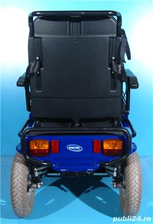 Carucior electric albastru Invacare G40 - 6 km/h  - imagine 4