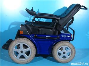 Carucior electric albastru Invacare G40 - 6 km/h  - imagine 2
