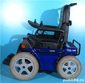 Carucior electric albastru Invacare G40 - 6 km/h  - imagine 1