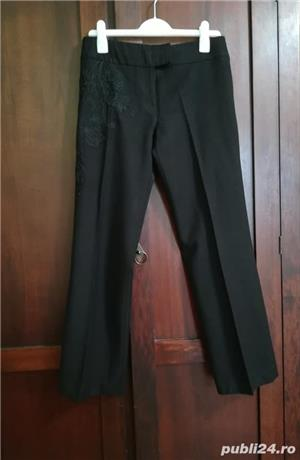 Pantaloni stofa lana fina Karen Millen - imagine 1