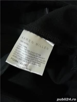 Pantaloni stofa lana fina Karen Millen - imagine 3