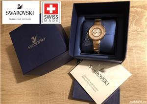 Ceas de dama original Swarovski Crystalline Pure, 5269250 Rose gold, tone PVD, NOU, garantie 2 ani - imagine 1