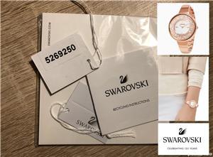 Ceas de dama original Swarovski Crystalline Pure, 5269250 Rose gold, tone PVD, NOU, garantie 2 ani - imagine 5