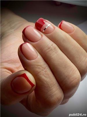 Aplic unghii cu gel si oja semi - imagine 5
