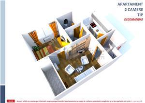 Tudor Vladimirescu, apartament cu 2 D, 52mp - imagine 1
