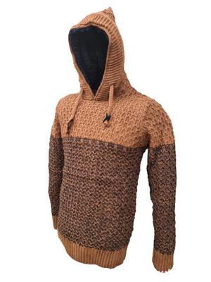 hanorac tricotat gros barbatesc  - imagine 2