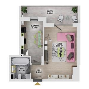 GARSONIERA pret promotional -ansamblu nou-Drumul Taberei Residence - imagine 3