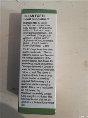 CLEAN FORTE Deparazitant natural - 90 lei/ 30 ml - imagine 2