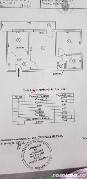 Vanzare apartament 2 camere Teiul Doamnei - imagine 7