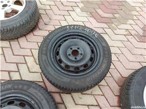 Roti 5x112x 15 VW, Skoda cu cauciucuri iarna 195 65 15 - imagine 5