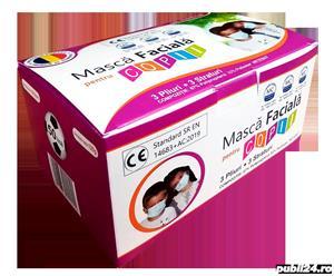 50 MASTI CHIRURGICALE PENTRU COPII CERTIFICATE CA DISPOZITIV MEDICAL - imagine 1