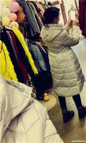 Geaca lunga de dama diferite culori si marimi - magazin haine Piata Gorjului Iuliu Maniu Bucuresti - imagine 1