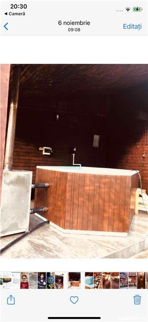 Inchiriez cabana cu piscina si ciubar jacuzzi - imagine 9