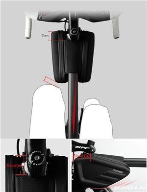 Geanta Coolchange dubla laterala husa smartphone cob antisoc bicicleta  - imagine 5