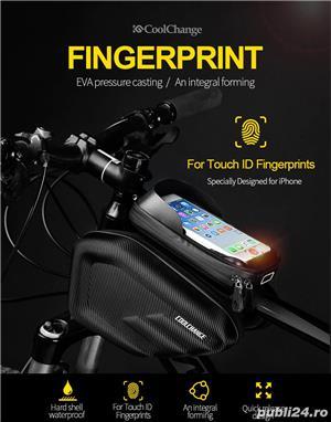Geanta Coolchange dubla laterala husa smartphone cob antisoc bicicleta  - imagine 1