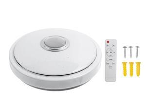 Plafoniera LED dimabila, cu boxa, telecomanda, bluetooth, RGB, 33cm - imagine 4