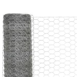 vidaXL Plasă de sârmă găini, argintiu, 25 x 1,5 m, oțel galvanizat vidaXL(143325) - imagine 3