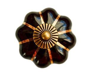Maner monila ceramica negru - imagine 2