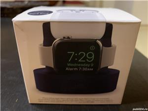 Dock stand de incarcare pentru Apple Watch, iPhone sau AirPods 1/2, albastru - imagine 2