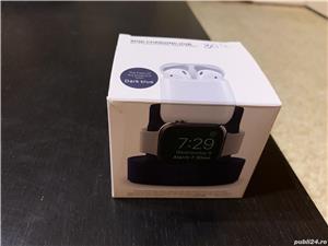 Dock stand de incarcare pentru Apple Watch, iPhone sau AirPods 1/2, albastru - imagine 5