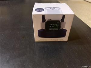 Dock stand de incarcare pentru Apple Watch, iPhone sau AirPods 1/2, albastru - imagine 7