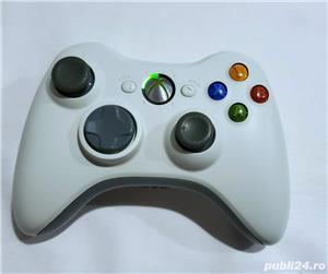 Controller/Maneta/Joy-stick Black-White Original Microsoft Xbox360   - imagine 1