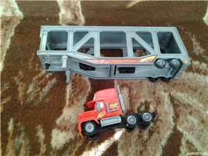 Disney Pixar Cars Mack camion transportor masinute 34 cm jucarie copii - imagine 6