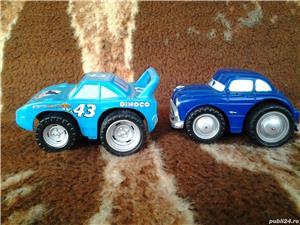 Disney Pixar Cars Dinoco + Hudson Hornet 10 cm jucarie copii - imagine 4