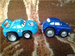 Disney Pixar Cars Dinoco + Hudson Hornet 10 cm jucarie copii - imagine 2